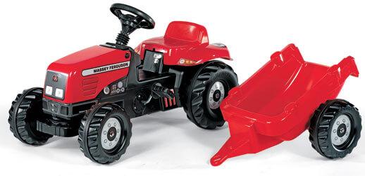 Massey Ferguson pedálos traktor utánfutóval, Rolly Toys