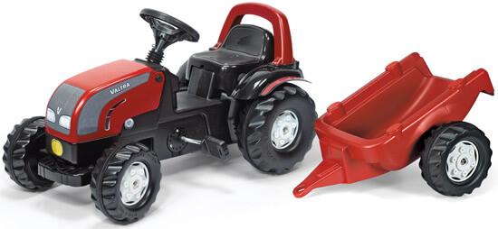 RollyKid Valtra pedálos játék traktor utánfutóval, Rolly Toys