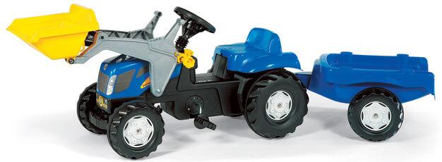 New Holland TVT 190 pedálos traktor homlokrakodóval, Rolly Toys