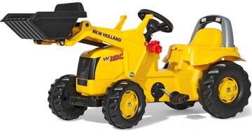 New Holland pedálos játék traktor homlokrakodóval, Rolly Toys