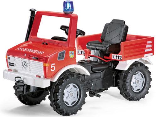 MB Unimog pedálos tűzoltóautó, Rolly Toys