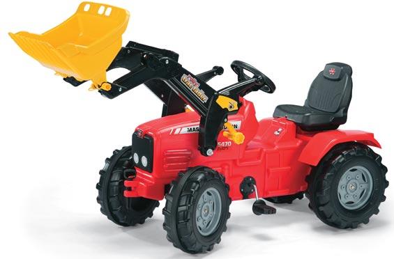 Massey Ferguson 5470 pedálos játék traktor homlokrakodóval, Rolly Toys