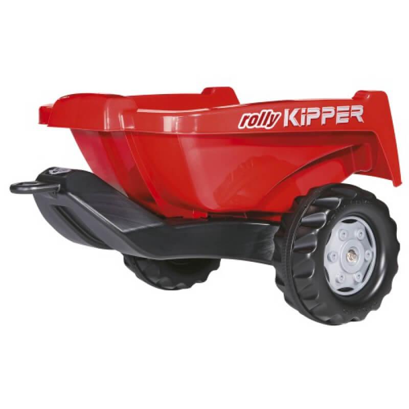 Rolly Kipper II játék utánfutó piros színben, Rolly Toys