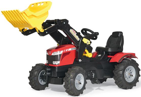 Massey Ferguson 8650 pedálos traktor homlokrakodóval, Rolly Toys