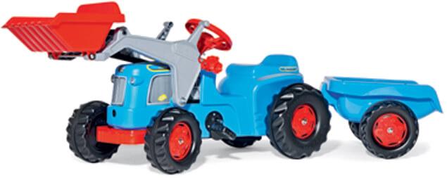 Rolly Kiddy Classic pedálos traktor homlokrakodóval és pótkocsival, RollyToys
