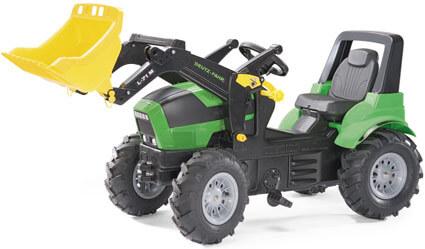 Deutz Agroton pedálos játék traktor homlokrakodóval és légtömlős gumiabroncsokkal, Rolly Toys