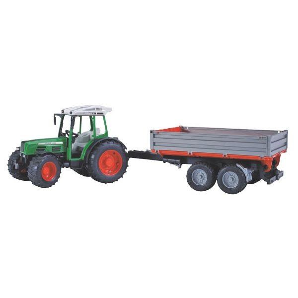 Fendt 209S játék traktor pótkocsival,  Bruder