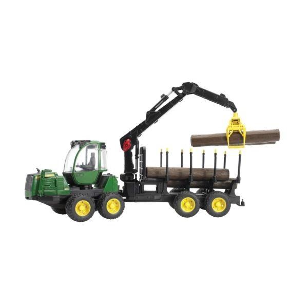 John Deere 1210E Forwarder játék erdészeti traktor, Bruder
