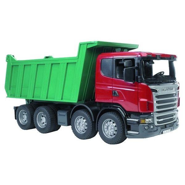 Scania billenőplatós játék teherautó,  Bruder