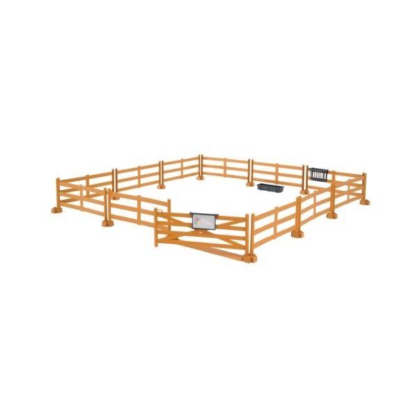 Játék kerítés lovaknak barna színben,  Bruder