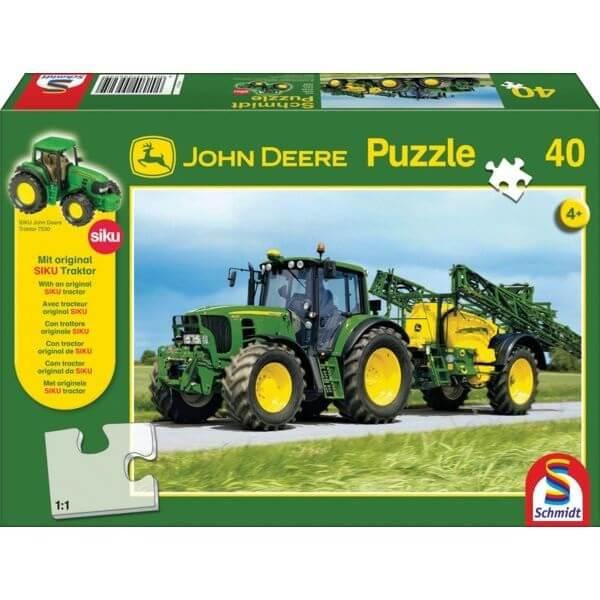 40 darabosJohn Deere silókombájn játék Puzzle, Schmidt