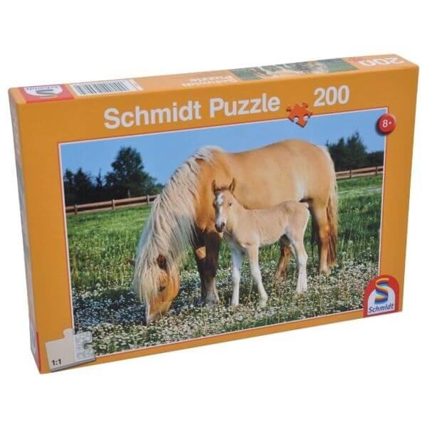 Játék Puzzle kanca csikóval, Schmidt