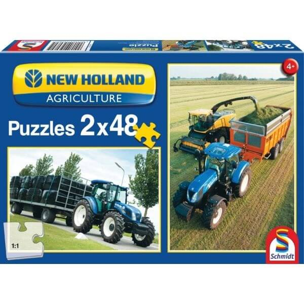 JátékPuzzle New Holland TD5 115/FR500, Schmidt