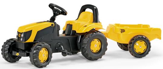 Rolly Kid JCB pedálos traktorutánfutóval, Rolly Toys