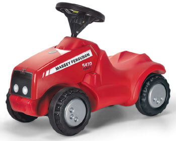 Massey Ferguson Rutscher lábbal hajtós traktor, Rolly Toys