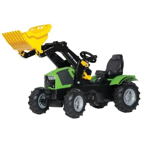 Deutz-Fahr pedálos traktor homlokrakodóval, Rolly Toys