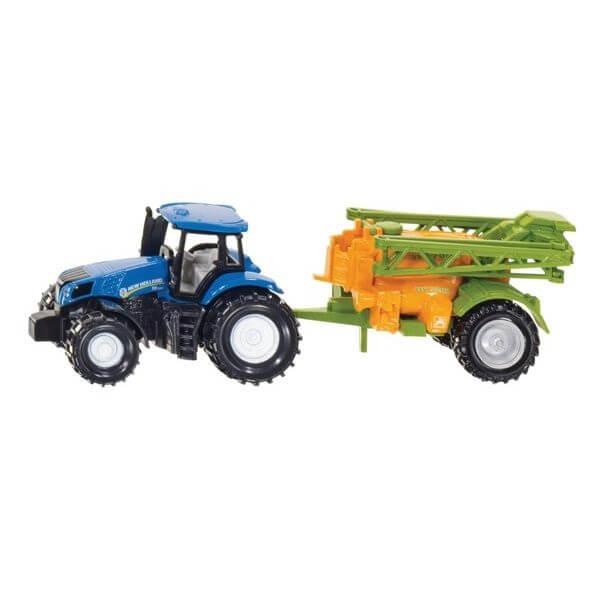 New Holland játék traktor permetezővel, Siku