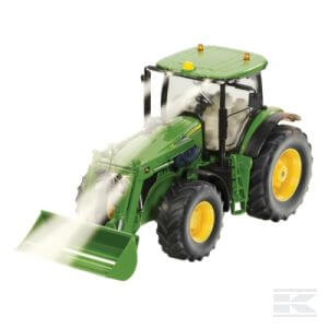 John Deere távirányítós traktor homlokrakodóval