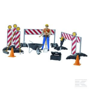 Építőmunkások tartozékokkal
