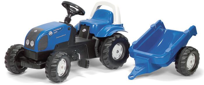RollyKid Landini Power Farm 95 pedálos játék traktor utánfutóval, Rolly Toys