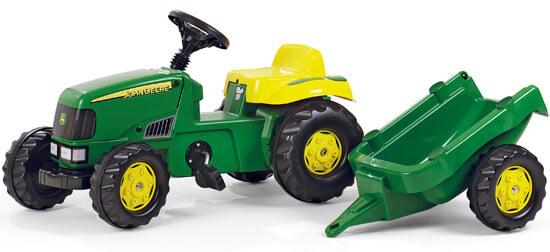 John Deere RollyKid pedálos traktor utánfutóval, RollyToys