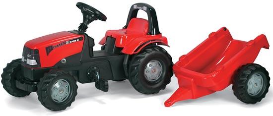 Case Rolly Kid pedálos játék traktor utánfutóval, Rolly Toys