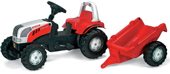 Steyr RollyKid pedálos traktor utánfutóval, RollyToys