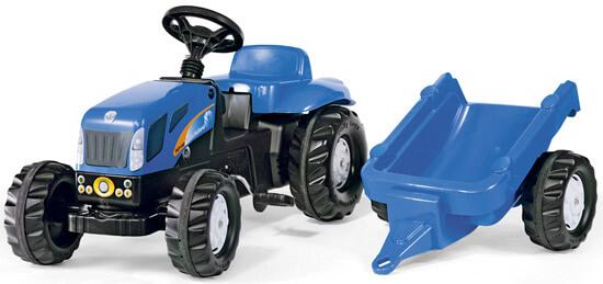 New Holland pedálos traktor utánfutóval, Rolly Toys