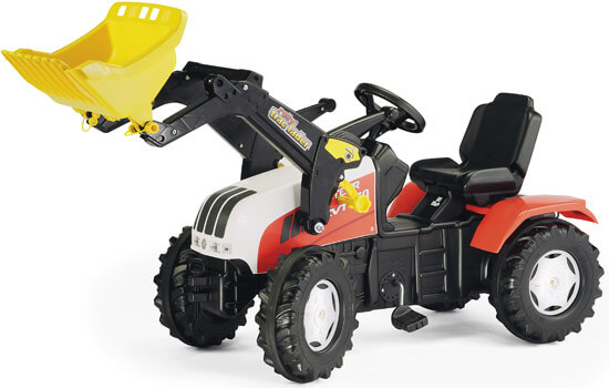 Steyr CVT 6230 pedálos traktor homlokrakodóval, Rolly Toys