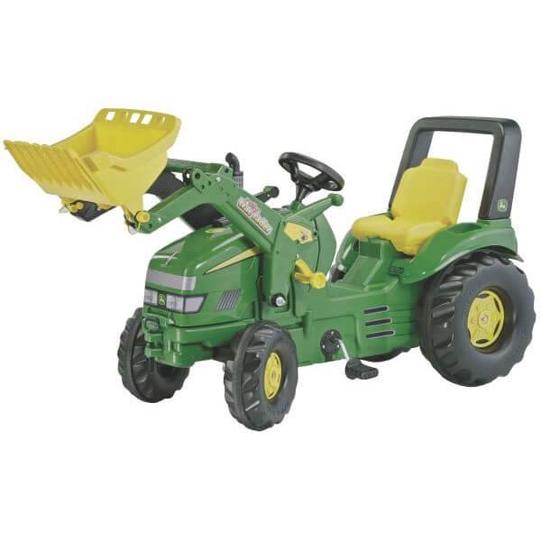 John Deere Trac pedálos játék traktor homlokrakodóval, Rolly Toys