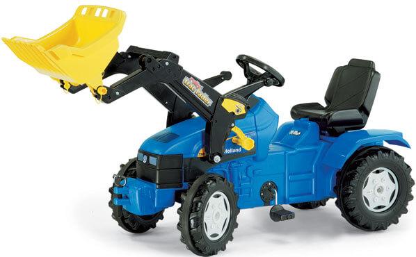 New Holland TM175 pedálos játék traktor homlokrakodóval, Rolly Toys