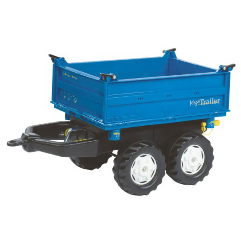 Ford Mega játék utánfutó kék színben, Rolly Toys