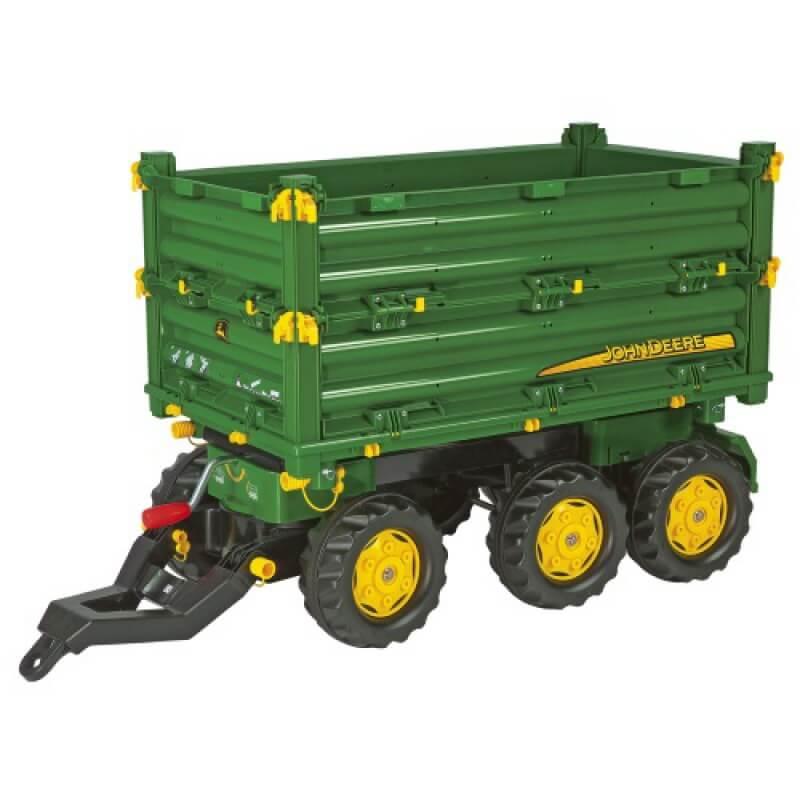 Rolly Multitrailer John Deere játék három oldalra billenős utánfutó, Rolly Toys
