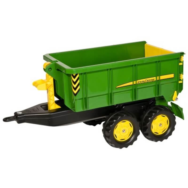 John Deere kéttengelyes játék utánfutó, Rolly Toys