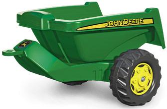 John Deere Rolly Kipper játék zöld utánfutó, RollyToys