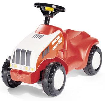 Steyr CVT 150 lábbal hajtható játék traktor, Rolly Toys