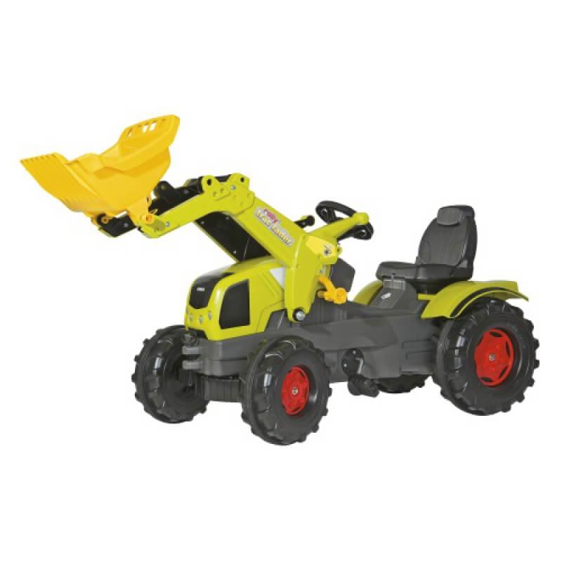 Claas Axos 340 pedálos játék traktor homlokrakodóval, Rolly Toys