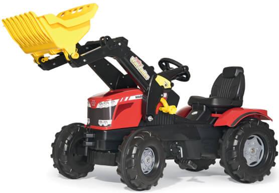 Massey Ferguson 8650 játék traktor homlokrakodóval, Rolly Toys