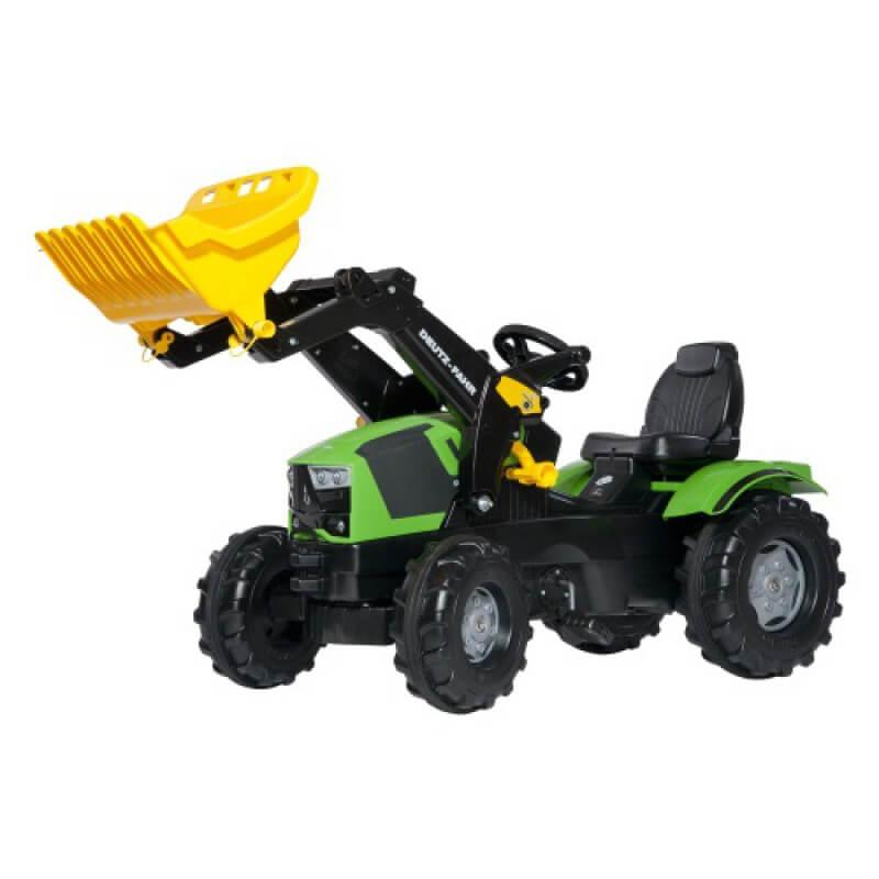 Deutz-Fahr 5120 pedálos traktor homlokrakodóval, Rolly Toys