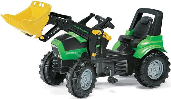 Deutz Agrotron pedálos traktor homlokrakodóval, RollyToys