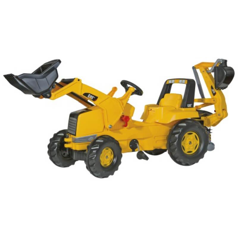 Caterpillar Cat pedálos traktor homlokrakodóval és kotrógéppel, Rolly Toys