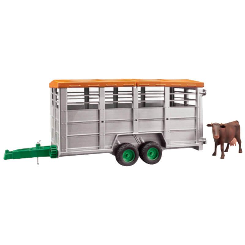Bruder Állatszállító utánfutó 1 tehénnel