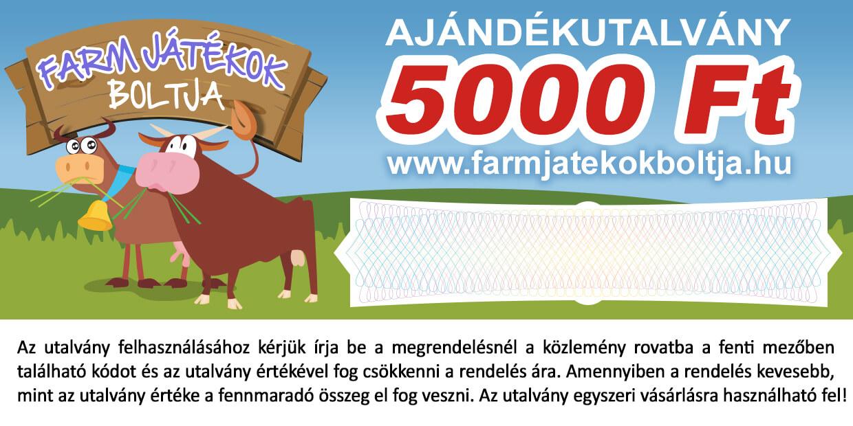 Ajándékutalvány 5000 Ft.
