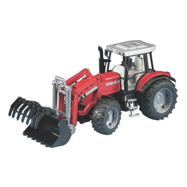Massey Ferguson 7480 játék traktor homlokrakodóval, Bruder