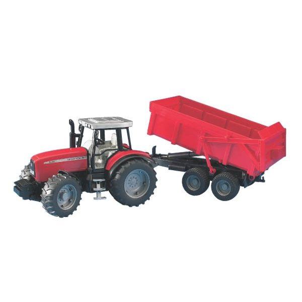 Massey Ferguson 7480 játék traktor pótkocsival,  Bruder