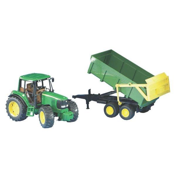 John Deere 6920 játék traktor pótkocsival, Bruder
