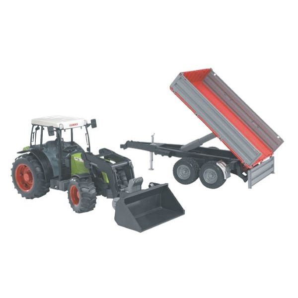 Claas Nectis 267F játék traktor homlokrakodóval,  Bruder