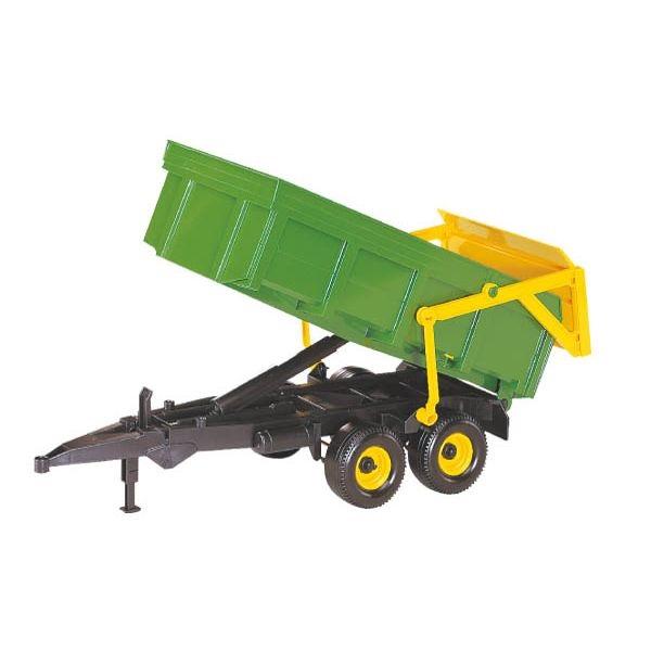Billenőplatós játék pótkocsi zöld színben, Bruder