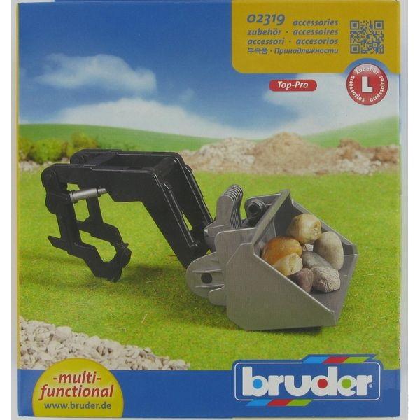 Játék első markoló kistraktorokhoz,  Bruder