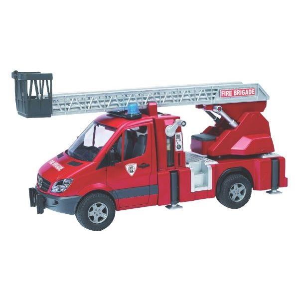Mercedes Sprinter játék tűzoltóautó forgólétrával,  Bruder